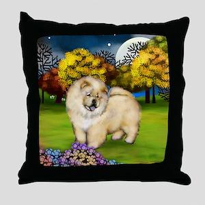 ccc moon Throw Pillow