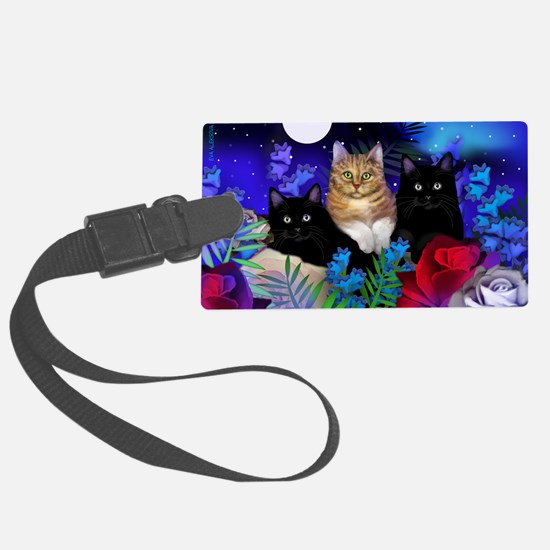 print cats Large Luggage Tag