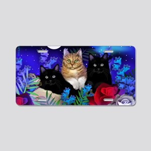 print cats Aluminum License Plate