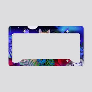 print cats License Plate Holder