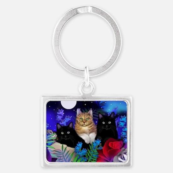 print cats Landscape Keychain