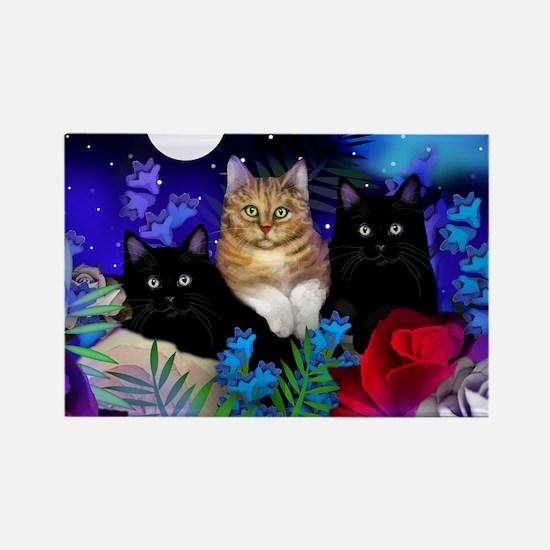 print cats Rectangle Magnet