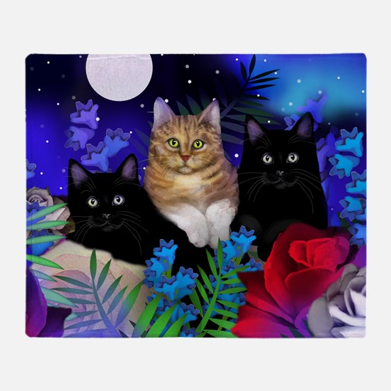 print cats Throw Blanket