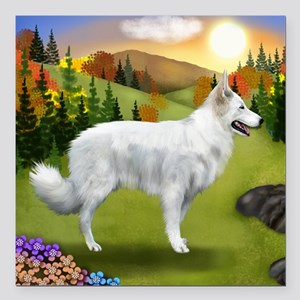 """fall WGS Square Car Magnet 3"""" x 3"""""""
