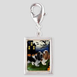 halp ckcs Silver Portrait Charm