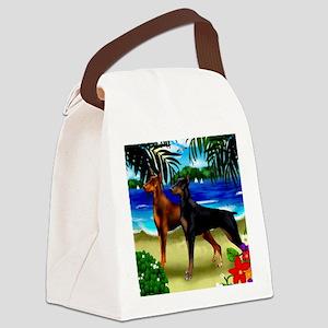 doberman 1 Canvas Lunch Bag