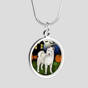 halp wa Silver Round Necklace