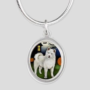 halp wa Silver Oval Necklace