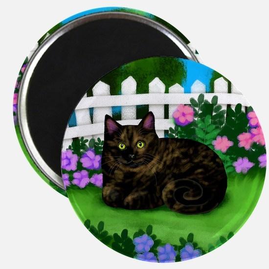 TORTOISESHELL CAT garden Magnet