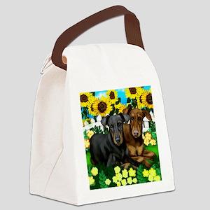 doberman 2 Canvas Lunch Bag