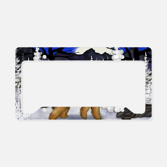 airedale wm License Plate Holder