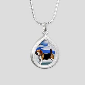 orn 21 Silver Teardrop Necklace