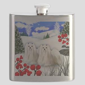 wb maltese Flask