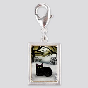ws bc Silver Portrait Charm