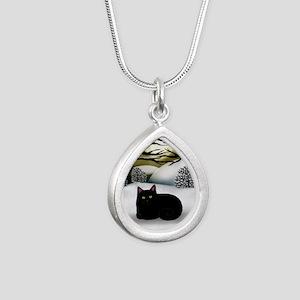ws bc Silver Teardrop Necklace