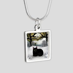 ws bc Silver Square Necklace