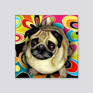 "retropug copy Square Sticker 3"" x 3"""