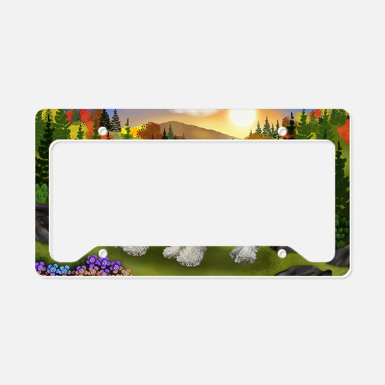 fall chnauzer License Plate Holder