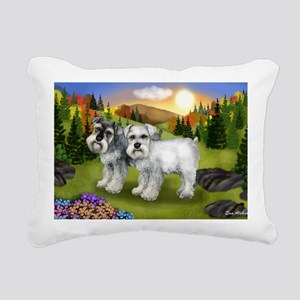 fall chnauzer Rectangular Canvas Pillow