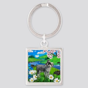 SS SPRING Square Keychain