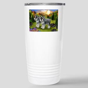 fall schnauzers Stainless Steel Travel Mug