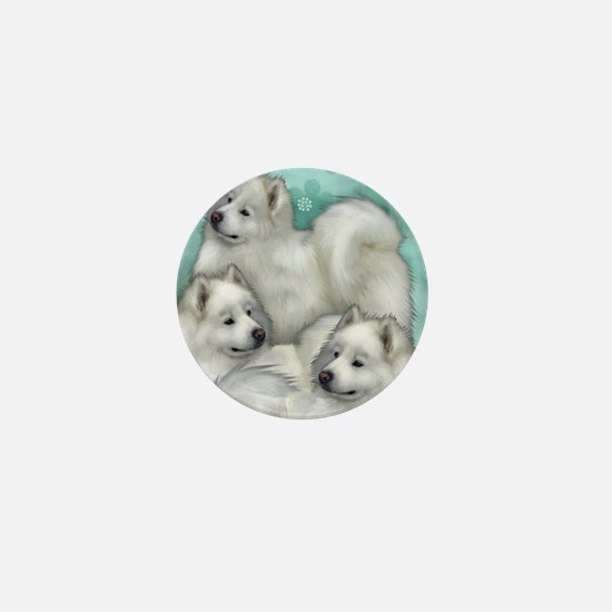 samoyed dogs Mini Button