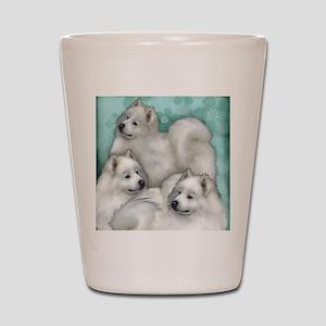 samoyed dogs Shot Glass