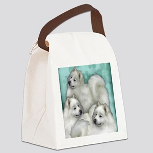 samoyed dogs Canvas Lunch Bag