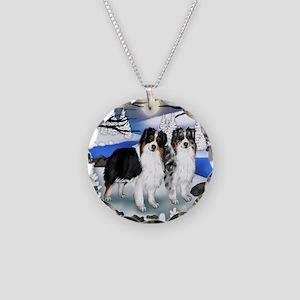 FROZENLAKE 2 2 Necklace Circle Charm