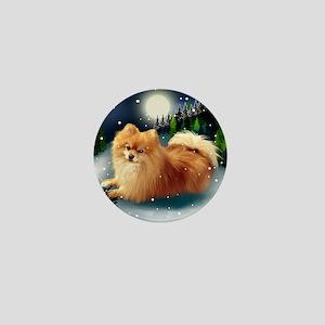 POMERANIAN DOG MOUNTAIN Mini Button