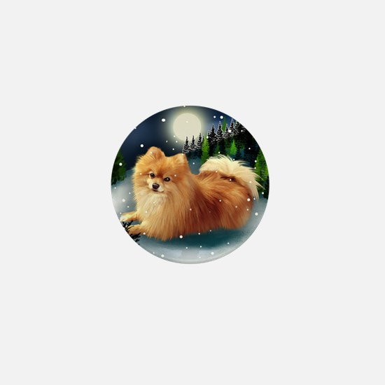 POMERANIAN DOG MOUNTAIN Mini Button