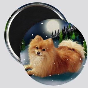 POMERANIAN DOG MOUNTAIN Magnet