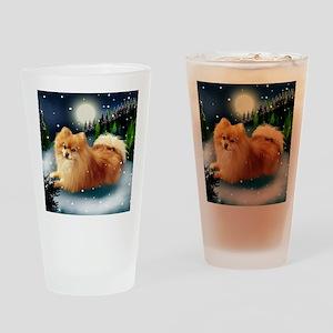 POMERANIAN DOG MOUNTAIN Drinking Glass