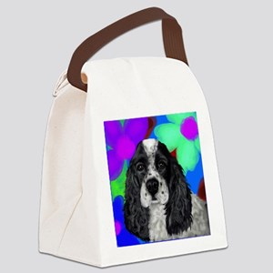 parti cocker spaniel Canvas Lunch Bag