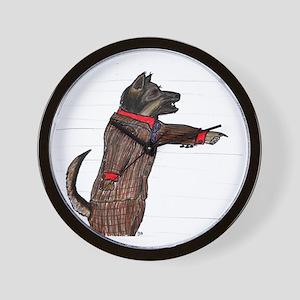 Prosecutor Dog in tweed Poor Bucks Tria Wall Clock