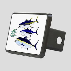 Three Tuna Chase Sardines  Rectangular Hitch Cover