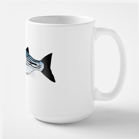 Striped Bass fish v0 Large Mug