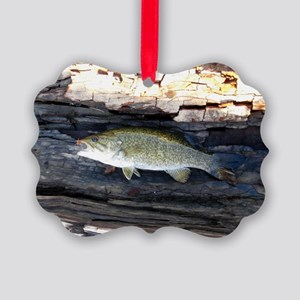Woody Smallmouth Bass Picture Ornament