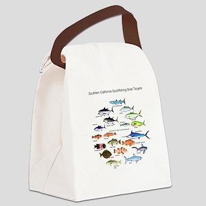 Southern California Sportfishing  Canvas Lunch Bag