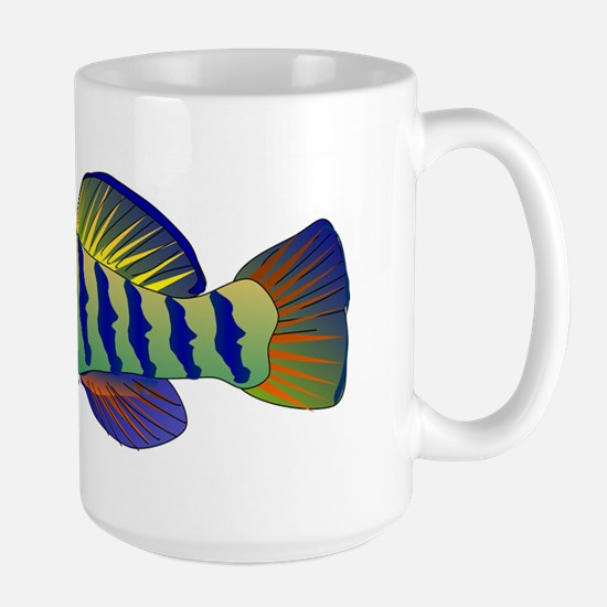 Orangethroat Darter v2 Large Mug