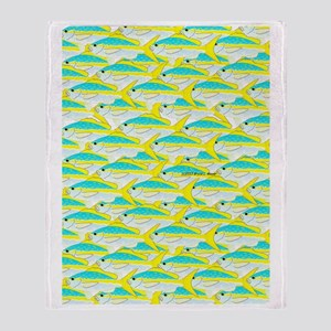 Yellowtail Snapper School 1 ps Throw Blanket