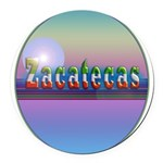 Zacatecas Round Car Magnet