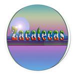 Zacatecas Round Car Magnet