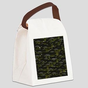 Black Bullhead catfish School Pat Canvas Lunch Bag