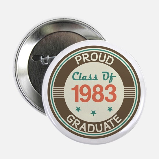 """Vintage Class of 1983 2.25"""" Button"""