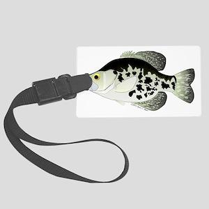 Black Crappie Sunfish CC Large Luggage Tag