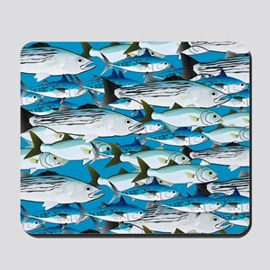 Atlantic School of Fish Attack 1 pattern Mousepad