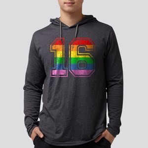 Rainbow Retro Style 16 Mens Hooded Shirt