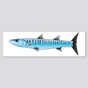 Pacific Barracuda ocean fish t Sticker (Bumper)