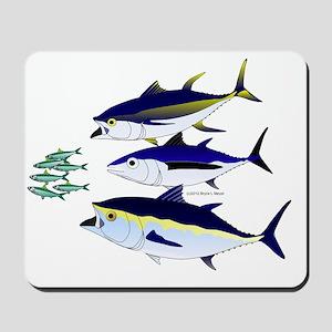 Three Tuna and Sardines T Mousepad